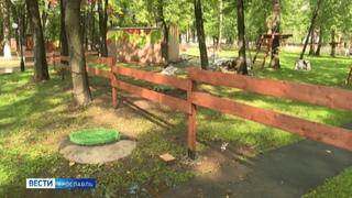Жители Ярославля возмутились появлением забора на газонах в Юбилейном парке