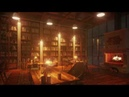 Library with a good atmosphere to study comfortably firewood