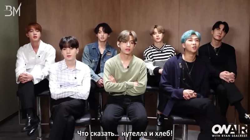 [RUS SUB] BTS Share the Meaning Behind Record-Breaking Track Dynamite @ On Air With Ryan Seacrest