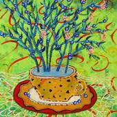 """Картина """"Черничный чай"""", 2016 г."""