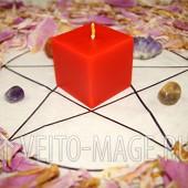 Красная руническая свеча