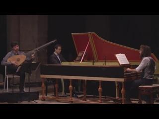 659 525 527 529 J. S. Bach - Trio sonatas 1, 3, 5  BWV 525 527 529 Choral BWV 659 (2 clav + théorbe) - Alarcon Rondeau Dunford
