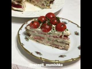 Кабачково-куриный тортик!