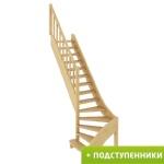 Лестница ЛС-07м/2 Л с подступенками сосна
