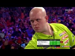 Michael van Gerwen vs Gerwyn Price (PDC World Darts Championship 2018 / Round 3)