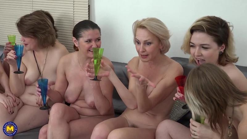 [Mature] Cock sharing party [HD 1080, Blowjob, Cumshot, Facial, Group Sex, Lesbian, MILF, Orgy, Sex]
