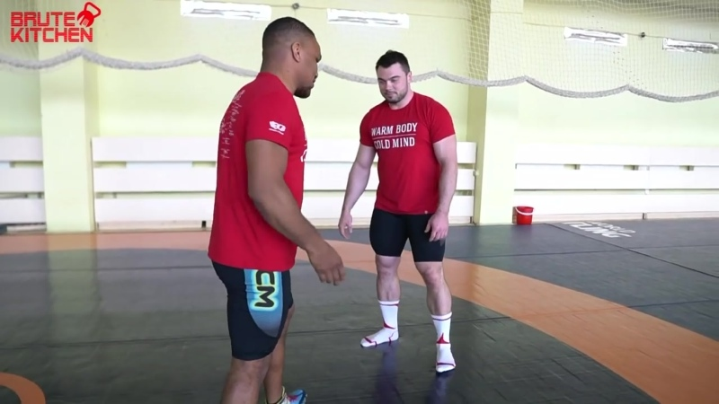 ZHAN BELENIUK CRAZY WRESTLING TRAINING WITH 115 kg WEIGHTLIFTER ENG SUB