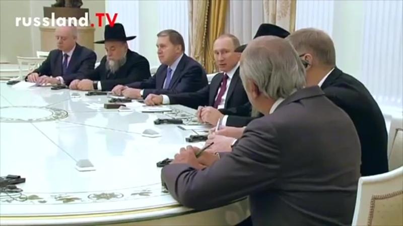 Putin bezeichnet Chabat Lubawitsch vor laufenden Kameras als Meine Vertreter