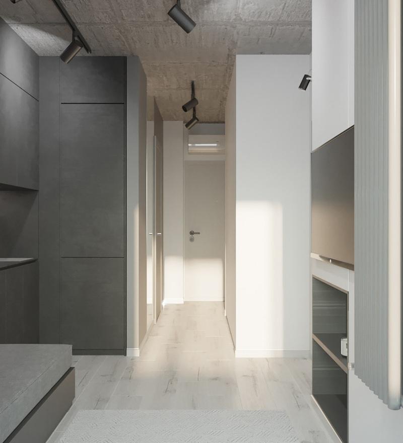 Проект квартиры 24 м с присоединенной лоджией.