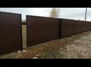 Забор из профнастила откатные ворота. Чистые Пруды, Киров, сентябрь 2019