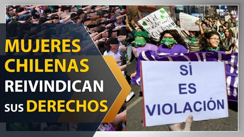 Mujeres chilenas reivindican sus derechos