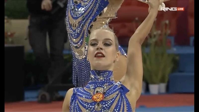 Команда России Санкт Петербург 3 обруча и 2х2 булав AA 33 55 Sofia World Cup 2021