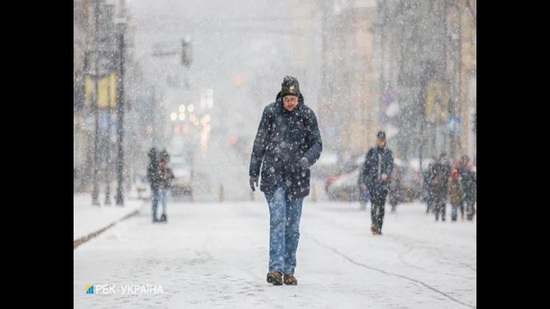 Непогода в Украине север юг и центр снова накроет снегом