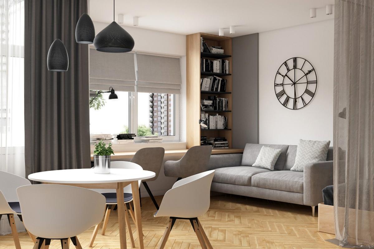 Концепт квартиры-студии 41 кв.