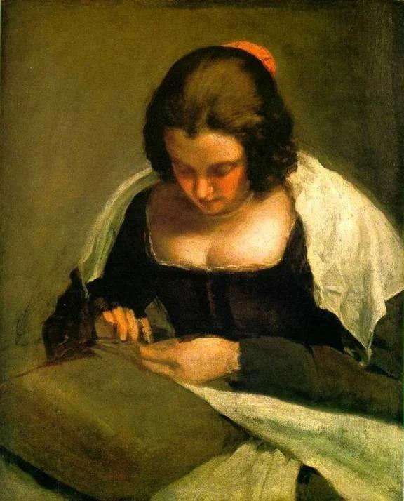 Д. Веласкес. Вышивальщица. Около 1650.Холст, масло. Национальная галерея искусства, Вашингтон.США