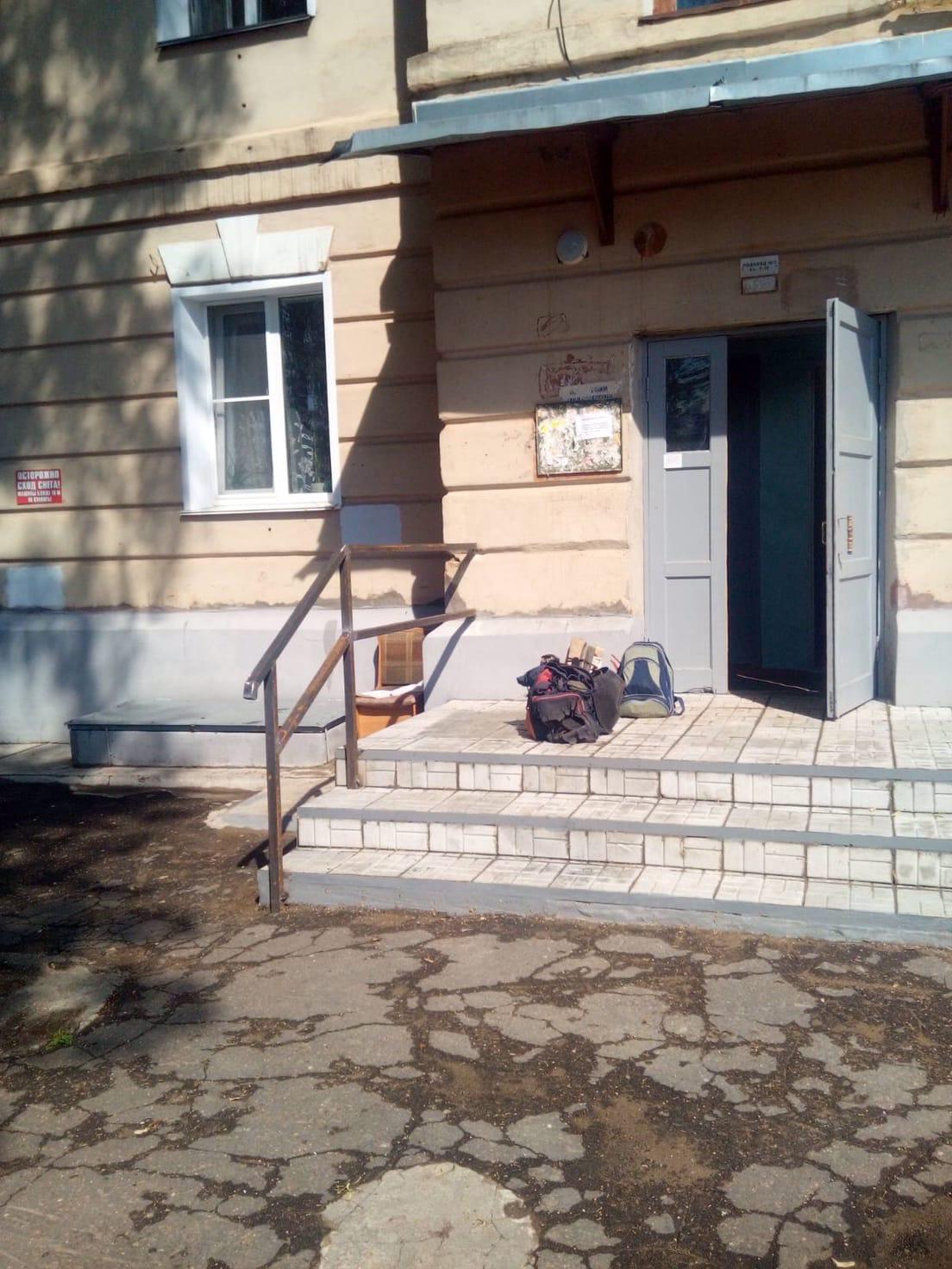 Улица Большева дом 15. Сварочные работы по