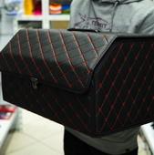 Сумка в багажник, Средняя, Черная с красной строчкой