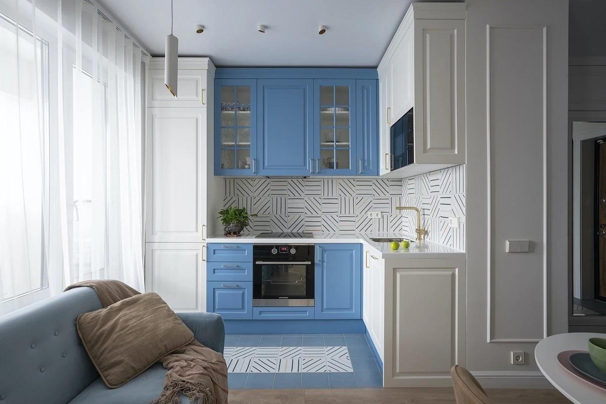 Новые интерьеры квартир с кухнями-гостиными в группе Однокомнатные квартиры / дизайн интерьера.