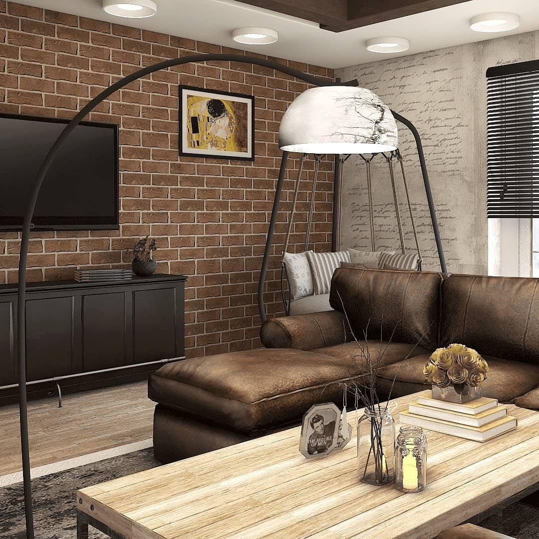 Проект квартиры студии в стиле