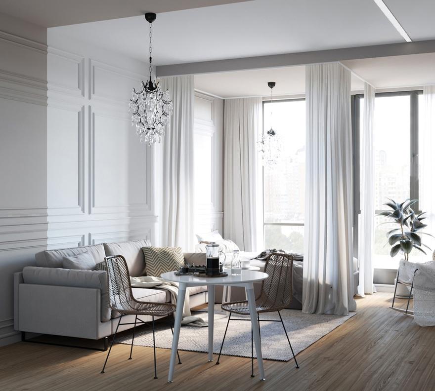 Концепт квартиры-студии 30 м.