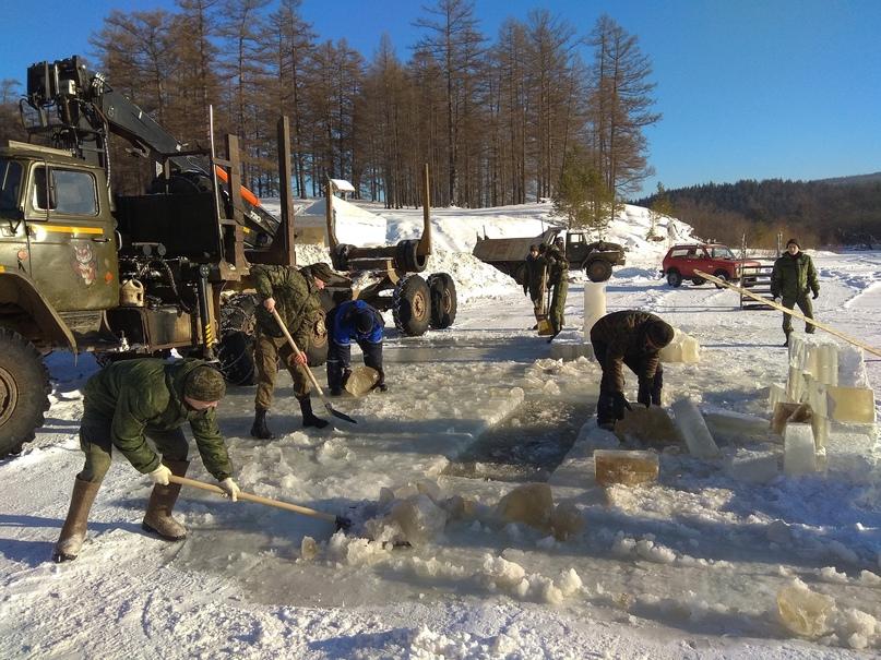 Помощь в подготовке полевого лагеря для проведения Крещенского купания, изображение №1