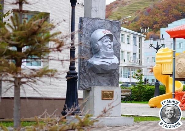 ВНевельске восстановили памятник Гагарину, которы...