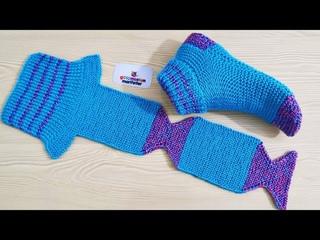 En kolay İki şiş Bayan çorap patik yapımı / Örgü patik örnekleri / Yeni patik modelleri yapılışı