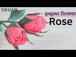 paper flower lovely rose with crepe paper tutorial