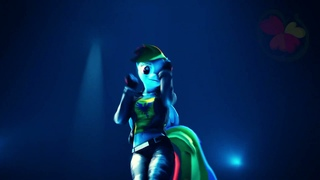 [SFM EverFree Team] TikTok Pony Dance - Blue (Da Ba Dee) [PMV REMIX OSU!]