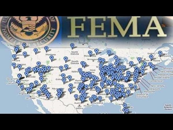 Les camps de concentrations FEMA pour tous c'est pour bientô se pratiquent Voici des preuves