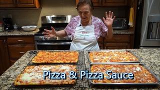 Italian Grandma Makes Pizza and Pizza Sauce
