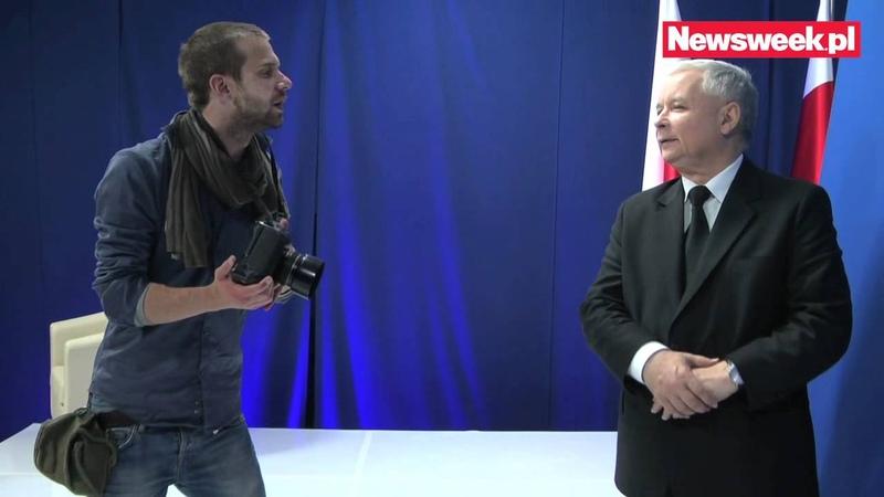 Jarosław Kaczyński - kulisy sesji