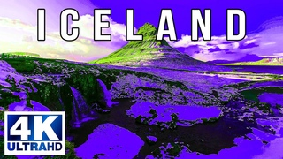 FLYING OVER ICELAND 4K SCENE - Relaxing Music & Amazing Beautiful Nature Scenery For Stress Relief