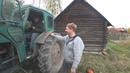 Санек первый раз едет на тракторе.Что из этого получилось