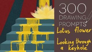 300 drawing prompts I №3 I ханахаки, масоны и кот