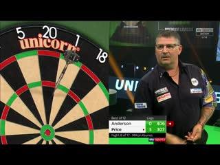 Gary Anderson vs Gerwyn Price (PDC Premier League Darts 2020 / Week 8)