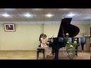И. Беркович Концерт № 2 для фортепиано с оркестром 2,3 часть исп. Юнилайнен Екатерина 6лет