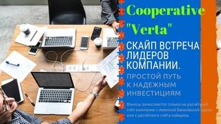 #Verta  Cкайп встреча лидеров компании