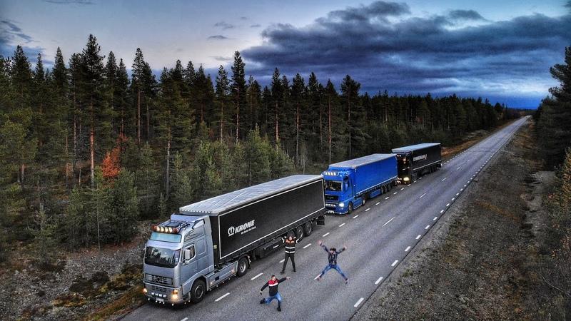 Driving together Gallivare Tromso