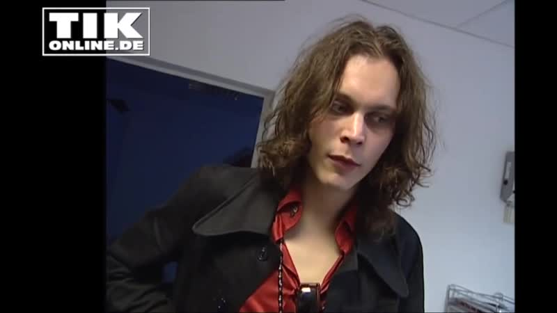 30 08 01 Ville Valo almost 20 years ago Am I a sex simbol rus sub