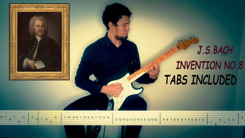 J S Bach Invention 8 for Electric Guitar free Tabs included