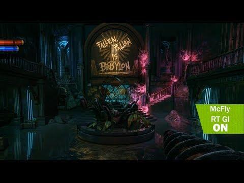 BioShock 2 Remastered 4K Ray tracing Global Illumination comparison gameplay ultra graphic
